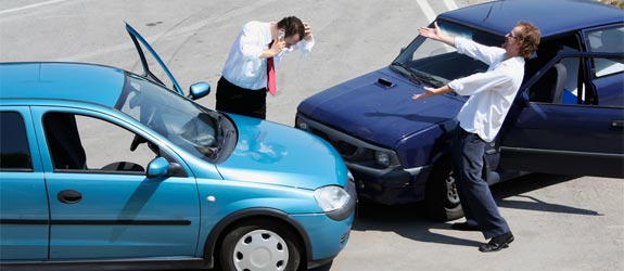 car collision men | see a doctor